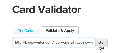 Enter your URL to validate your Twitter Card